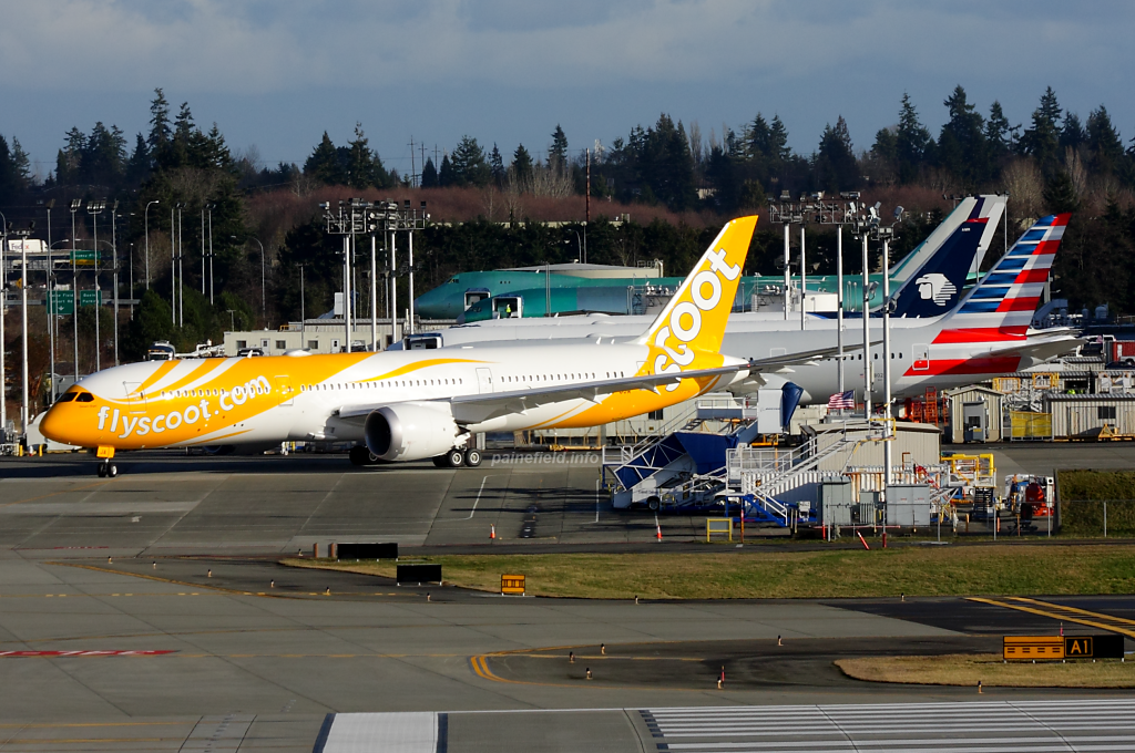 Scoot 787-9 9V-OJA at Paine Field