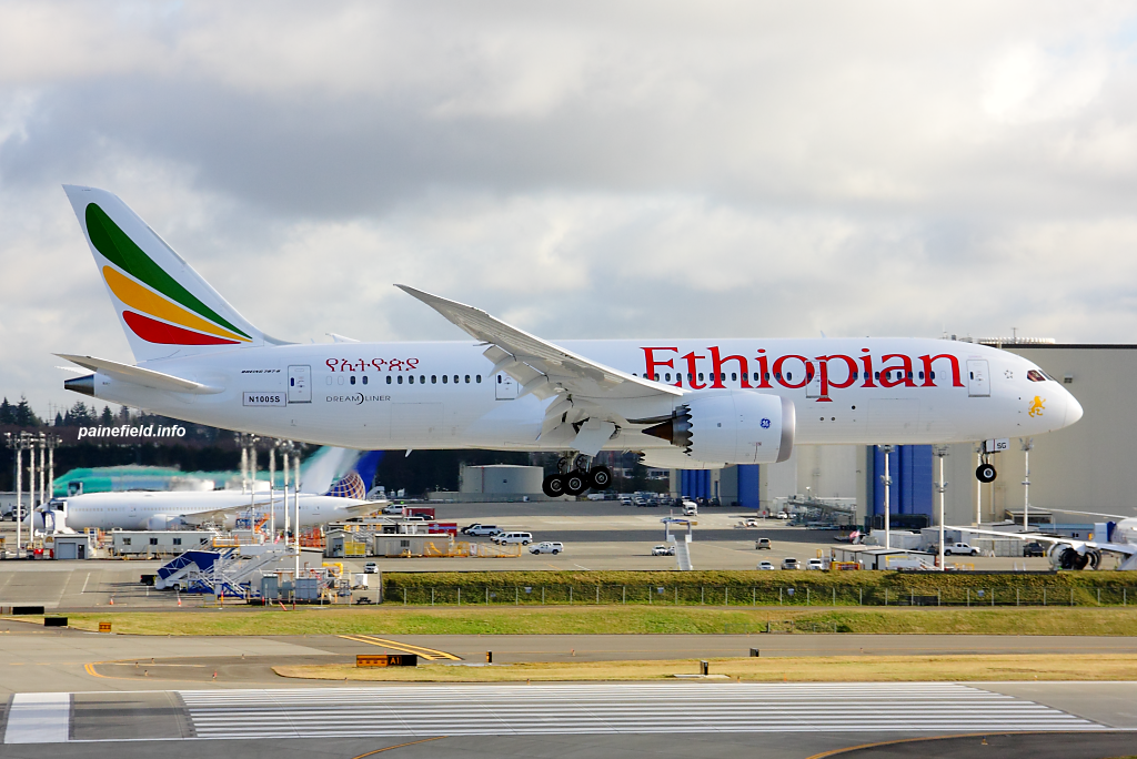 Ethiopian Airlines 787-8 ET-ASG at Paine Field