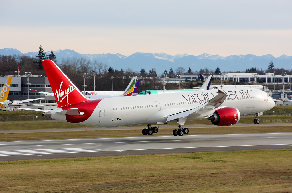 Virgin Atlantic 787-9 G-VOOH at Paine Field