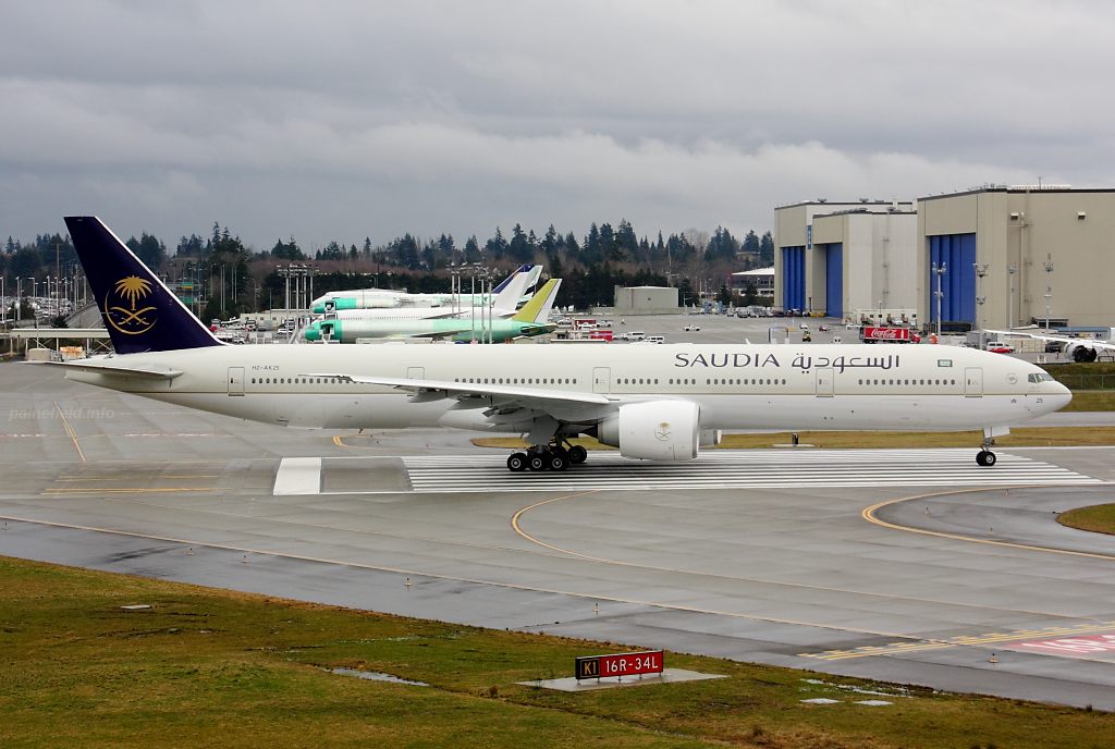 Saudi Arabian Airlines 777 HZ-AK25 at Paine Field