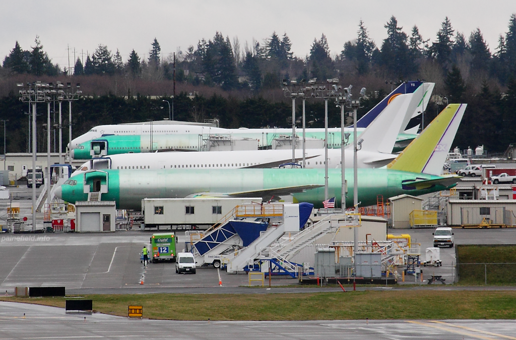 Lufthansa 747-8i D-ABYS at Paine Field