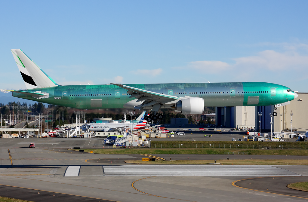 Emirates 777 A6-ENY at Paine Field