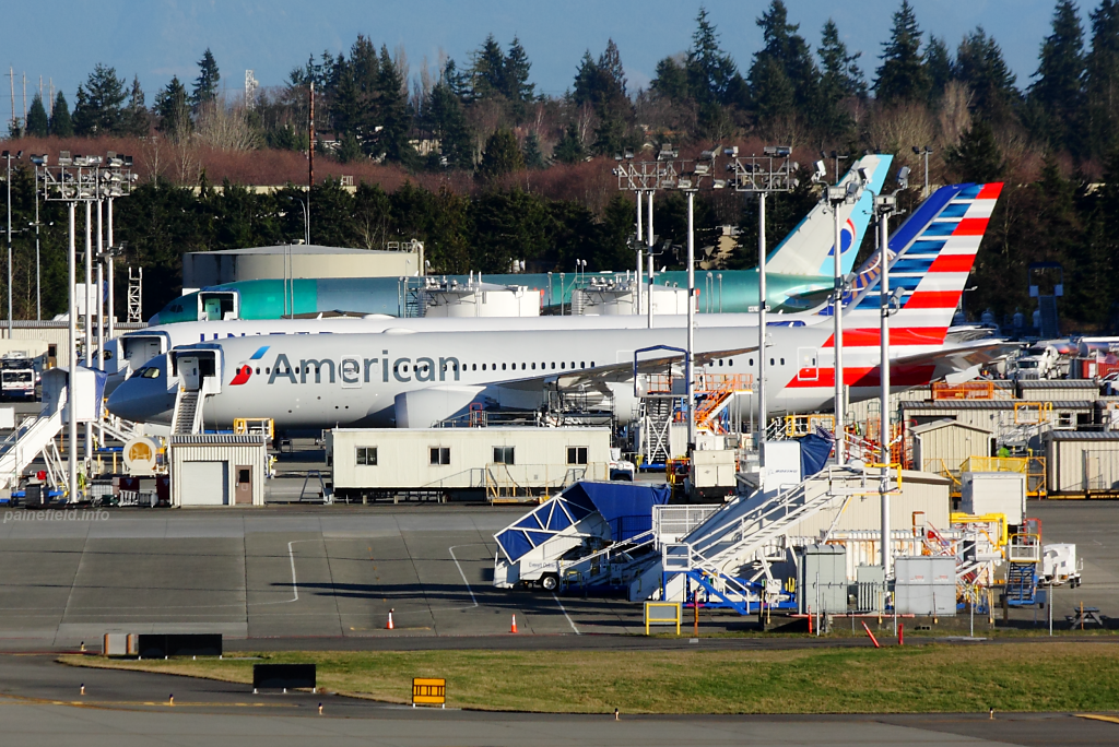 American Airlines 787 N801AC at Paine Field
