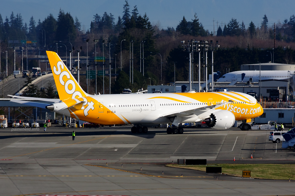 Scoot 787 9V-OJA at Paine Field