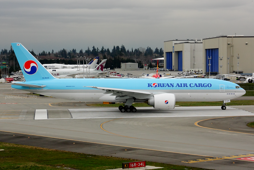 Korean Air Cargo 777F HL8005 at Paine Field