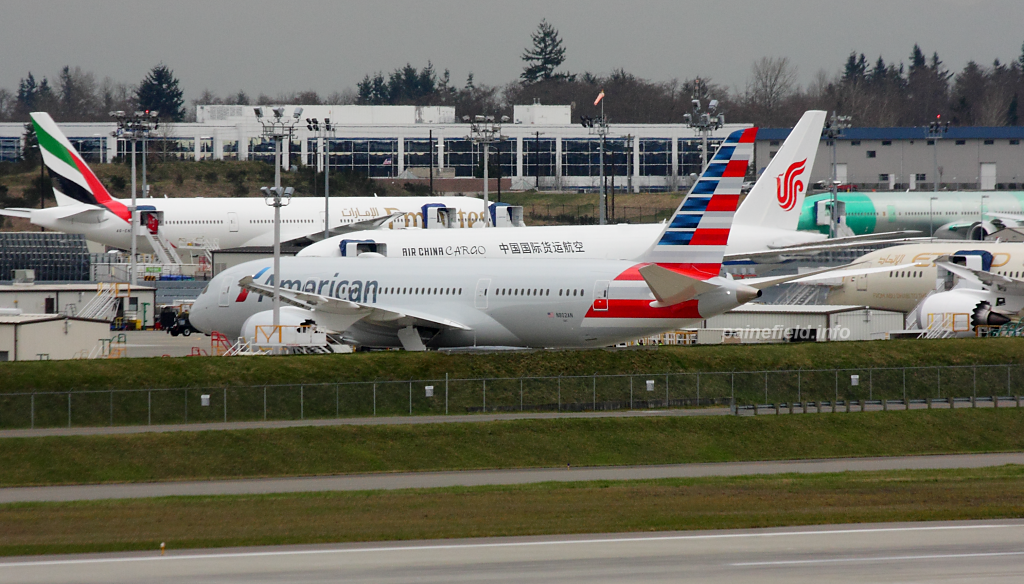 American Airlines 787-8 N802AN at Paine Field
