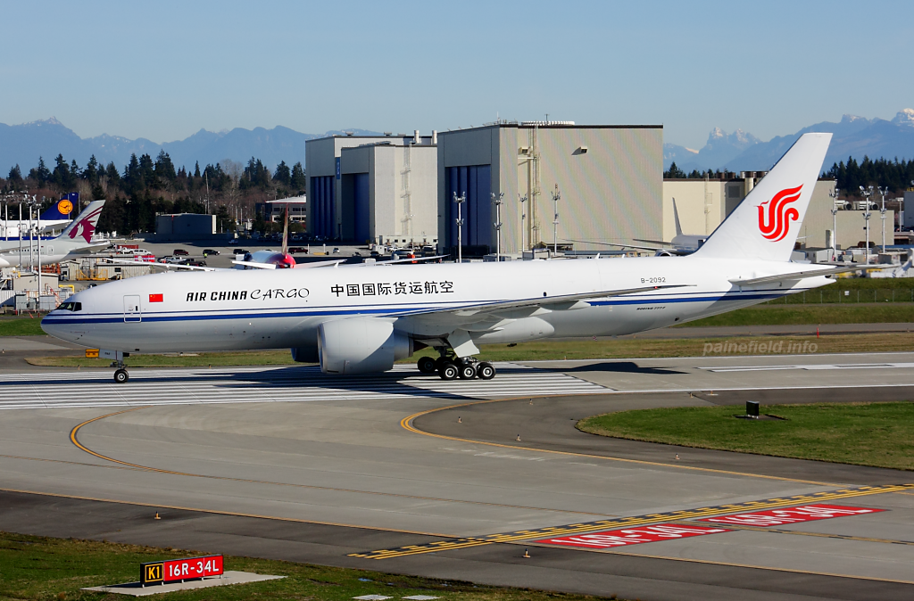 Air China Cargo 777F B-2092 at Paine Field