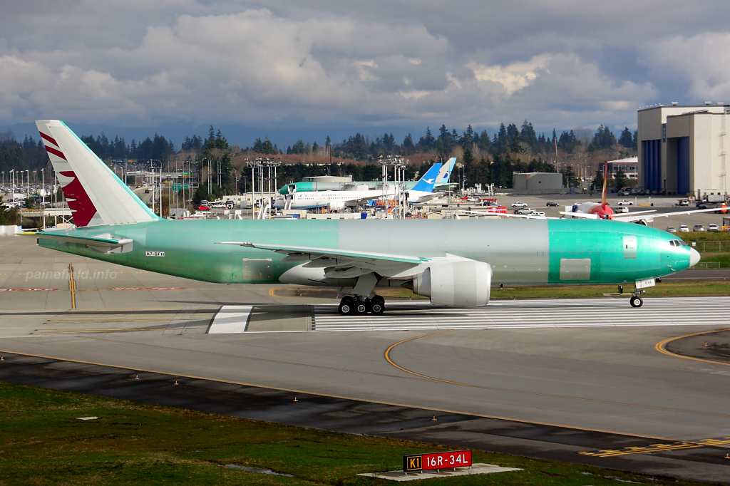 Qatar Cargo 777F A7-BFH at Paine Field